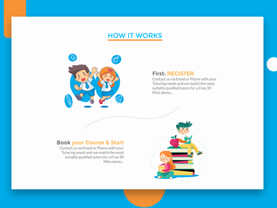 Learn From Home - How it works Section howitworks kids education mobile app mobile app ux web ui design interface agency ui-ux-