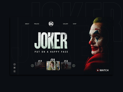 an Imaginary design for the #JOCKER film interface joker ux web ui ui-ux- design