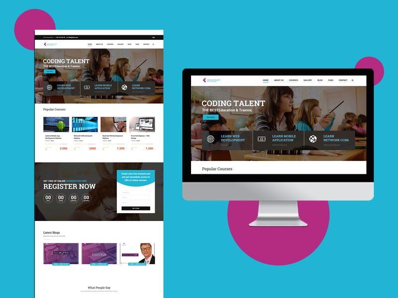 Coding Talent Agency course ux web design agency development ui-ux- ui interface coding