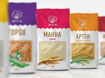 """""""Vesta"""" cereals porridge cereals branding illustration art design graphic design logo pack package packing packaging"""