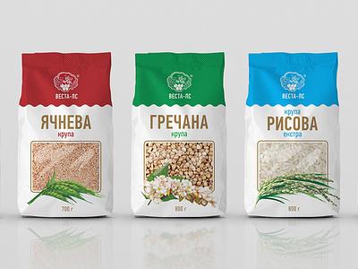 """""""Vesta"""" cereals art porridge cereals color illustration branding design graphic design logo pack packing package packaging"""