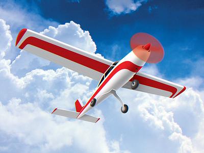 "Model Aviation Club ""Height"" color blue flight logo art graphic design design clouds cloud illustration sky machine plane aircraft airplane height club aviation"