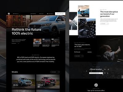 Landingpage Concept MG webdesign mg cars web landingpage website interface ux ui