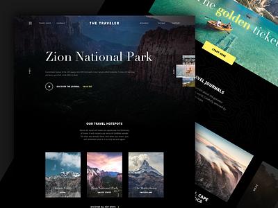 The Traveler ui website concept interface typogaphy photograpy travel webdesign website landingpage design