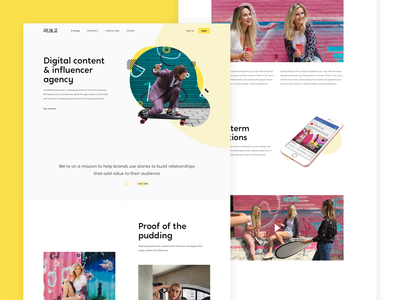 Social Reblz - Digital Content & Influencer Agency interaction web website clean cases blog landingpage webdesign ui ux design interface