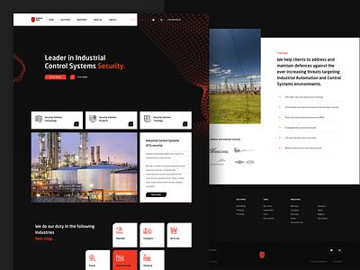 Applied Risk Homepage photograpy landingpage web particles orange black dark webdesign website ui ux homepage design interface