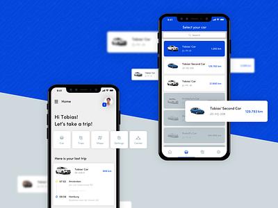 Tripchain App wirelab blockchain carpooling car data android time duration ios app ux ui interface design