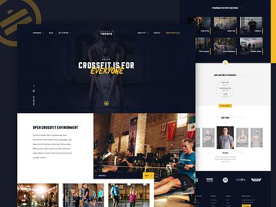 Crossfit Website sport typography fitness club fitness center fitness dark web design landingpage interaction crossfit gymnastic gym ui ux webdesign website interface