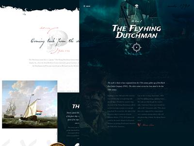 TheFlyingDutchmen Mocktober web deadly dead pirates horror mocktober page webdesign landingpage ui ux interface design interface