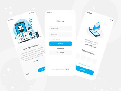 Medical app ui mobile app designer trendy design verification code verification sign in sign up onboarding app ui meditation service health media booking appointment booking uxdesign uiux ui medical