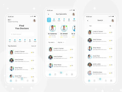 Medical app homepage medicine trende new uidesign mobile app appointment medical design booking ux ui uiux