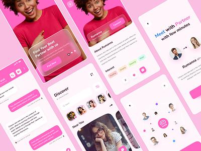 Dating app ux partner mobile app ui relationship love ui design mobile app ui dating app date