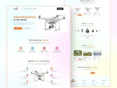 Drone landing page clean website creative website minimalist website web ui woo commerce sell product web design landing page drone