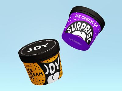 Ice Cream Labels branding design illustration graphic design labels ice cream wip
