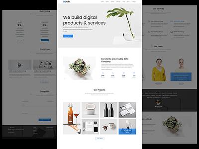 Q-Studio - Creative Digital Agency Template agency clean design modern simple theme ui ux landing page website minimal