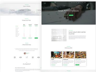 Zermatt - WordPress Company Landing Page Theme wordpress clean design modern bootstrap theme ui ux landing page website minimal