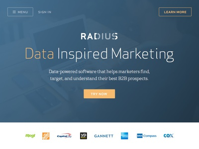 New Radius Homepage Ideation sketch radius raddesignteam