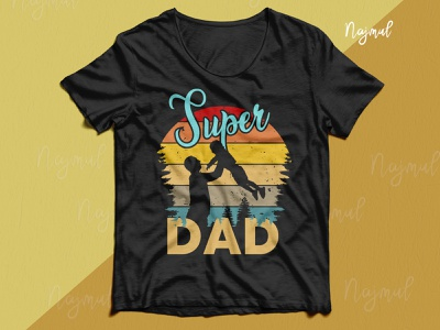 Super Dad. Father's day retro t-shirt design fathersday typography fashion design father t-shirt dad design dad and son dad lover fathers day retro t shirt design t shirt design custom t shirt
