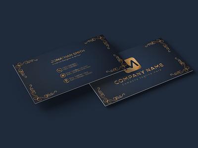 luxury business card design black brand golden business card modern creative visiting card design brand identity minimal logo branding design black business card luxury business card design