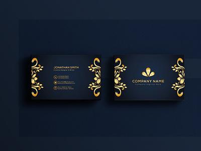 luxury business card design branding visiting card design logo minimal golden business card design creative black brand black business card brand identity luxury business card design