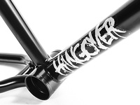 Typography graphics for Total BMX Hangover Frame