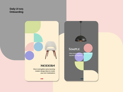 [Daily UI] 023. Onboarding interior clean onboarding simple ui design appdesign modern uiux