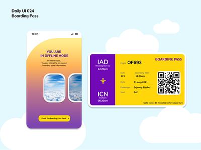 [Daily UI] 024. Boarding pass boardingpass simple ui design appdesign modern uiux