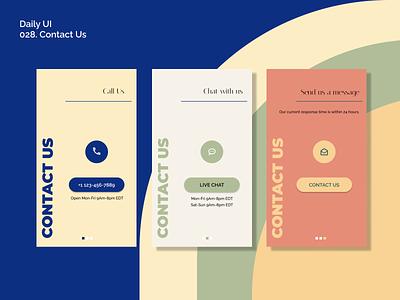 [Daily UI] 028. Contact us contactus elegant simple ui appdesign modern uiux