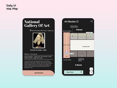 [Daily UI] 029. Map museum map design ui appdesign modern uiux