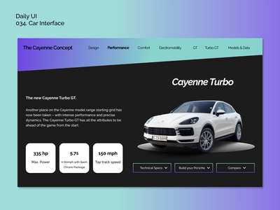 [Daily UI] 034. Car Interface dailyui34 dailyui dialyui sleek sporty car carinterface simple design ui appdesign modern uiux