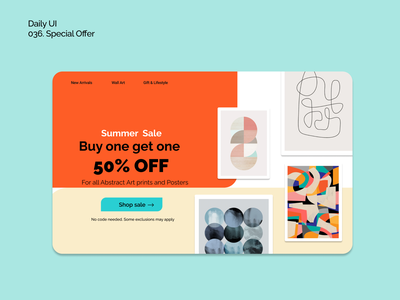 [Daily UI] 036. Special offer abstract artistic web orange dailyui36 dailyui specialoffer simple ui modern uiux