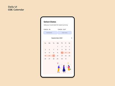 [Daily UI] 038. Calendar dailyui38 dailyui calendar simple design ui appdesign modern uiux