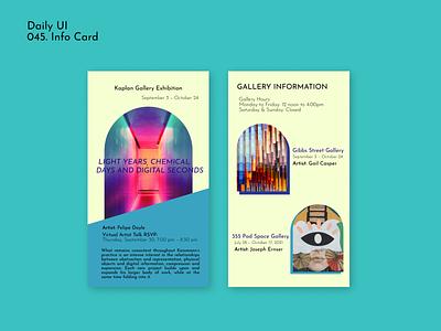 [Daily UI] 045. Info card 045 mobiledesign infocard dailyui simple design ui appdesign modern uiux