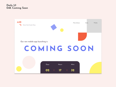 [Daily UI] 048. coming soon daily048 trendcolor simpledesign vivid comingsoon 048 dailyui simple design ui appdesign modern uiux