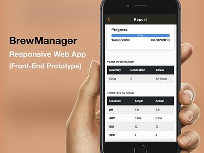 BrewManager - Responsive Web App (Prototype) web app web design prototype responsive design mobile product mobile iphone app ios