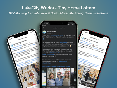 LakeCity Works — Tiny Home Lottery (Communications) facebook social media marketing communications