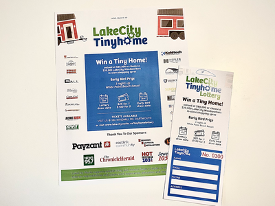 LakeCity Works — Tiny Home Tickets and Poster sketch illustrator tickets poster print print design