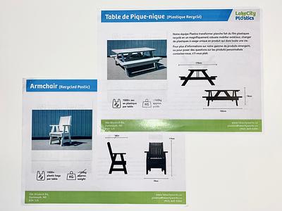 LakeCity Plastics — Sales Documents (Bilingual) layout typography photography documents sales bilingual french english