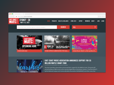 ECMA — Responsive Website Design (News Page) computer desktop responsive web design web