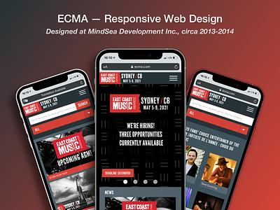 ECMA — Web Design (Responsive Mobile) website safari ios webdesign responsive mobile