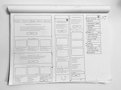 Wireframes — Nocturne, Halifax (Responsive Web Design) sketching sketch responsive website design responsive website responsive design website design