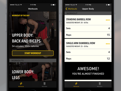 Limitless Fitness – iOS Prototype experience user interface ux ui phone app fitness prototype mobile iphone ios