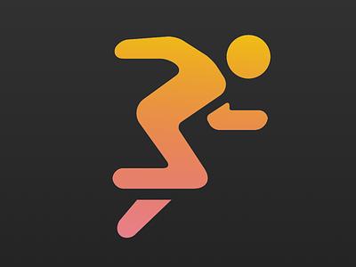 Limitless Fitness App icon dark gradient minimal minimalism health fitness icon app