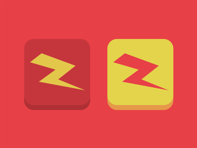Zinc flat icon zinc energy lightning hyperactive flat icon
