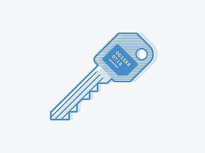 Flat Key flat icon illustration vector key access code romania