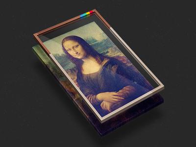 Instaframe instagram frame 3d layers glass painting mona lisa