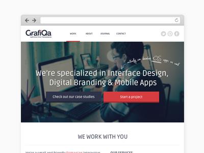 GrafiQa / Interactive Agency interface design digital branding mobile apps user interface user experience web design ux  ui branding logo design iphone ipad responsive web design