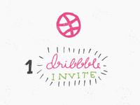 1 Dribbble Invite / Illustration