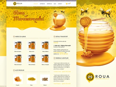 Roua Maramuresului / Website Design roua dew maramures honey bee hive website designe web design web ui interface