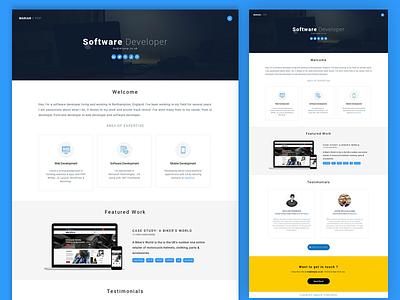 Portfolio / Personal Website coder developer coding portfolio website